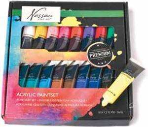 Nassau Fine Art 18-tlg. Acrylfarben-Set