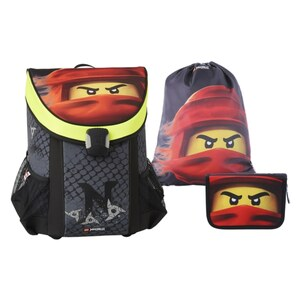 LEGO Ninjago Kai of Fire Schulranzen Set 3 teilig