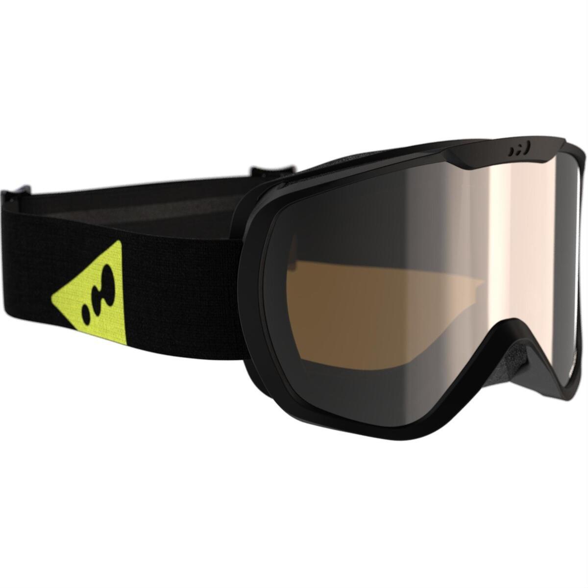 Bild 2 von Ski / Snowboardbrille G 500 S3 Erwachsene/Kinder Schönwetter schwarz