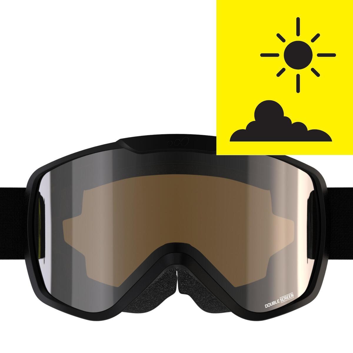 Bild 3 von Ski / Snowboardbrille G 500 S3 Erwachsene/Kinder Schönwetter schwarz