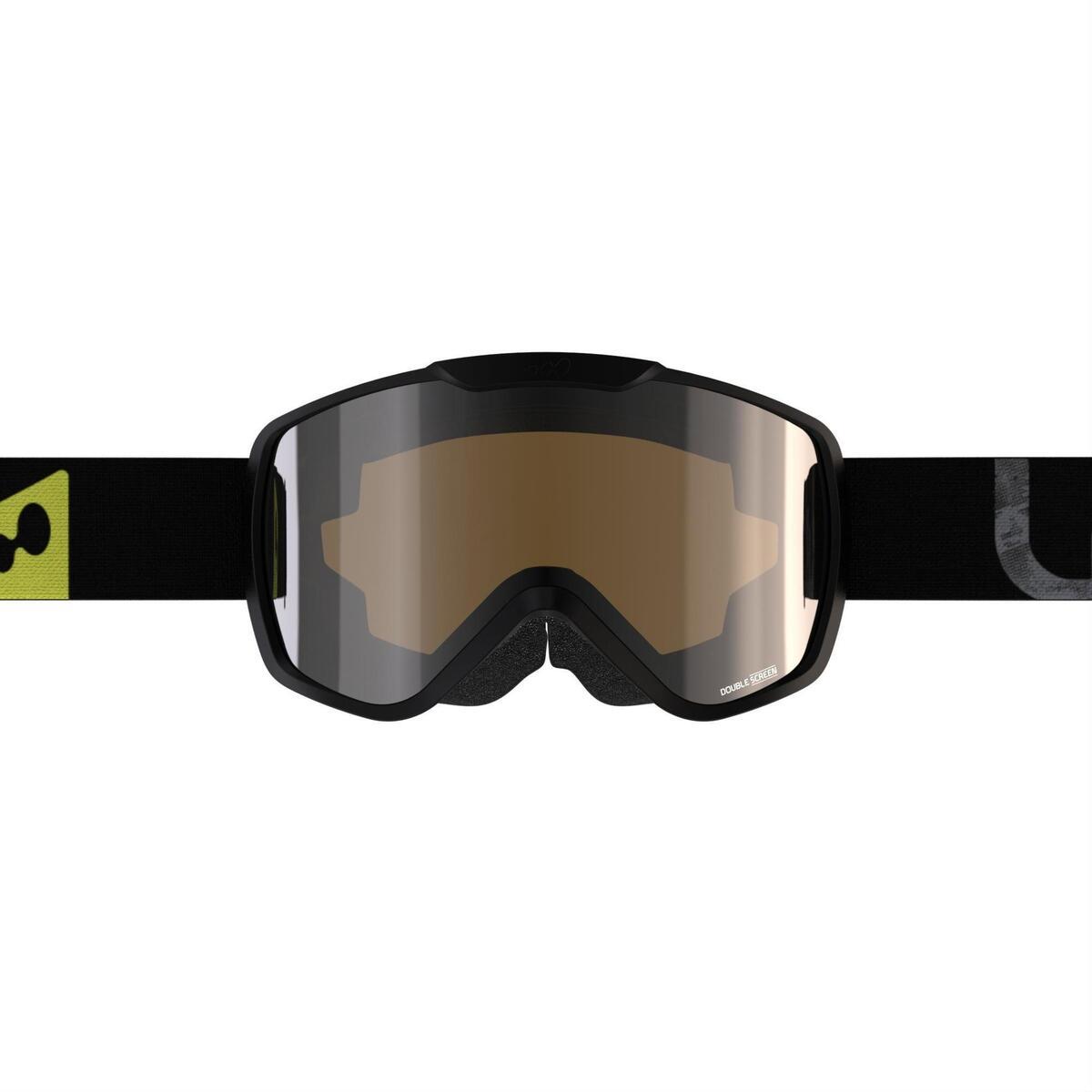 Bild 4 von Ski / Snowboardbrille G 500 S3 Erwachsene/Kinder Schönwetter schwarz