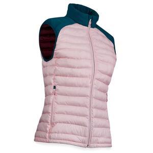 Golf wattierte Jacke ärmellos warm Damen rosa/petrol