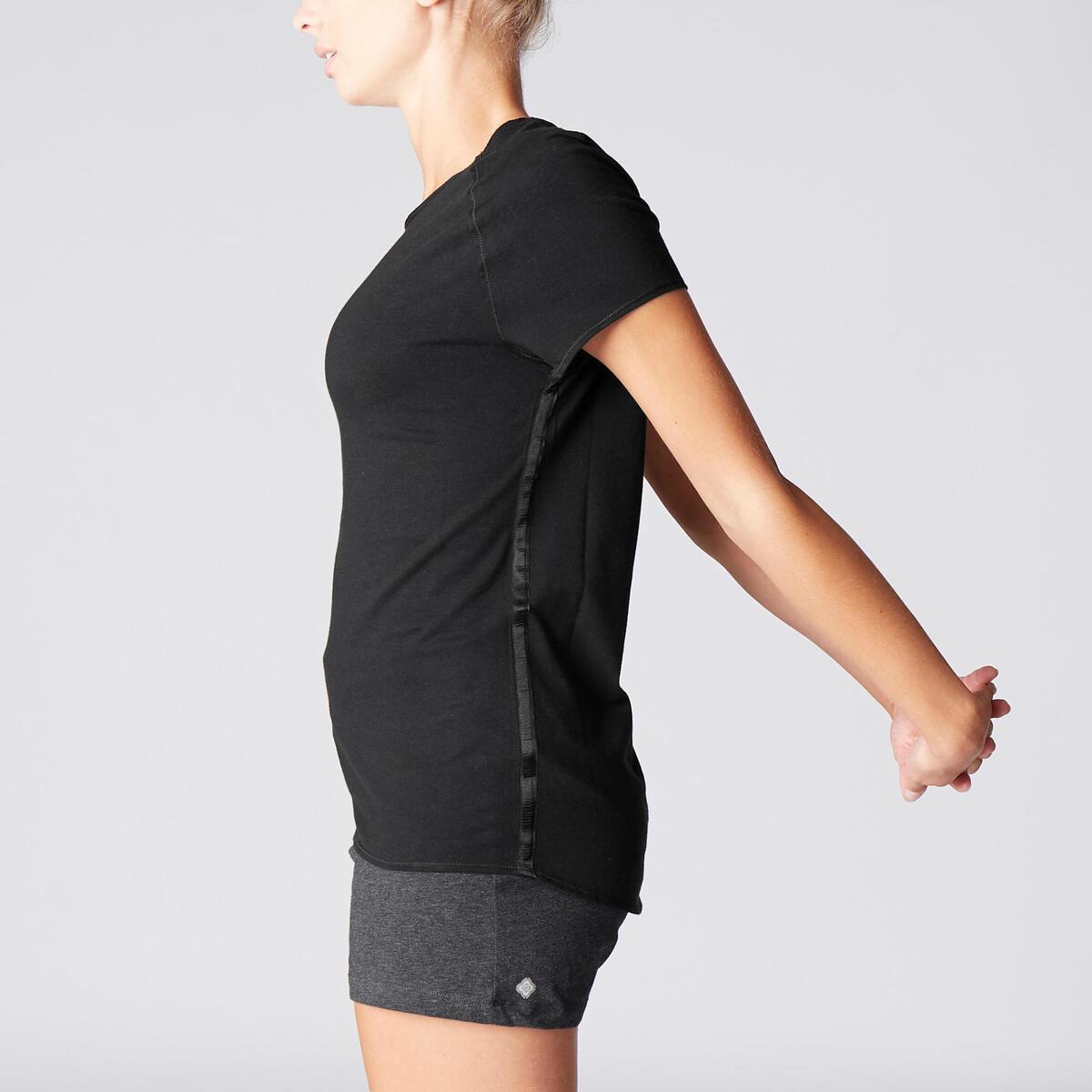 Bild 5 von T-Shirt sanftes Yoga aus Baumwolle aus biologischem Anbau Damen schwarz