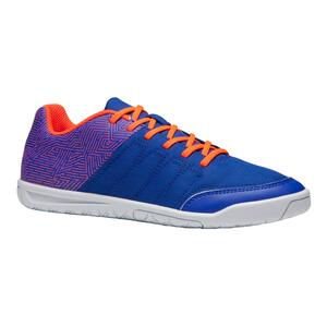 Hallenschuhe Futsal Fussball CLR 500 Kinder blau/orange