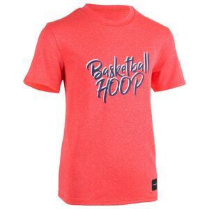 Basketballshirt TS500 Kinder Hoop rosa