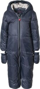 Schneeanzug mit Kapuze, abnehmbar blau Gr. 74 Jungen Baby