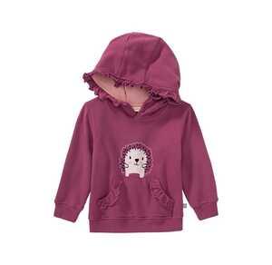 Baby-Mädchen-Sweatshirt mit Igel-Aufdruck