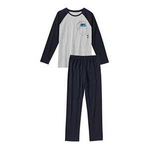 Jungen-Schlafanzug mit Handy-Motiv, 2-teilig
