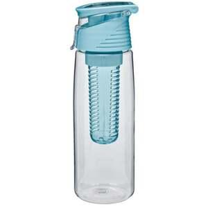 IDEENWELT Trinkflasche mit Infuser blau