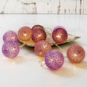 "I-Glow Lichterkette mit Ornamenten ""Kugel"" - Purple"