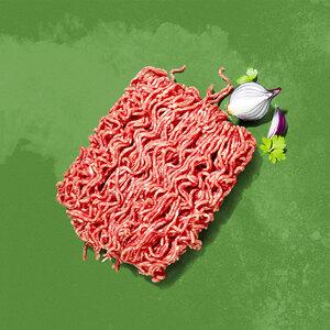 Frisches Bio Rinderhackfleisch, Hackfleisch gemischt (aus Schweine- und Rindfleisch) oder Lammhackfleisch jede 350-g-SB-Packung