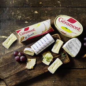Géramont Französischer Weichkäse  60 % Fett i. Tr. versch. Sorten,   jede 200/150-g-Packung