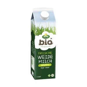 Arla Frische Bio Weidemilch 1,5/3,8 % Fett, jede 1-Liter-Packung