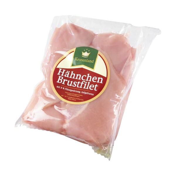 Hähnchen Brustfilet mit 8 % Flüssigwürzung, gefroren, je 1 kg