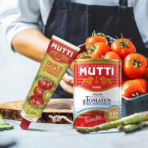 Mutti Polpa feinstes Tomatenfruchtfleisch und weitere Sorten, jede 400-g-Dose