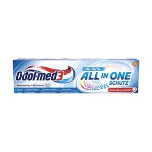 Odol-med3 Zahncreme All in one Schutz oder White&Shine, Samtweiss oder Complete Care, versch. Sorten, jede 75-ml-Packung