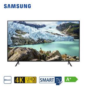 """UE70RU7099 • 3 x HDMI, 2 x USB, CI+ • geeignet für Kabel-, Sat und DVB-T2-Empfang • Maße: H 87,8 x B 157,5 x T 6 cm • Energie-Effizienz A+ (Spektrum A++ bis E), Bildschirmdiagonale: 70""""/176"""