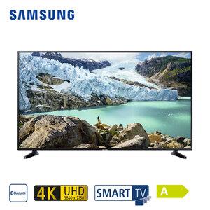 UE43RU7099 (mit AirPlay-Unterstützung) • 3 x HDMI, 2 x USB, CI+ • geeignet für Kabel-, Sat und DVB-T2-Empfang • Maße: H 56,3 x B 97 x T 5,8 cm • Energie-Effizienz A (Spektrum A++ bis E), B