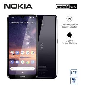 Smartphone Nokia 3.2 · 19:9 HD+-Display · 2 Kameras (5 MP/13 MP) · 2-GB-RAM, bis zu 16-GB-Speicher · microSD™-Slot bis zu 400 GB · Gesichtserkennung · nanoSIM · Android™ 9.0, Bildschirmdia