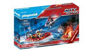 PLAYMOBIL 70335 - City Action - Feuerwehreinsatz mit Heli und Boot