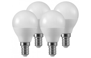 LED-Tropfenlampe 4er-Pack E14 5,5 Watt