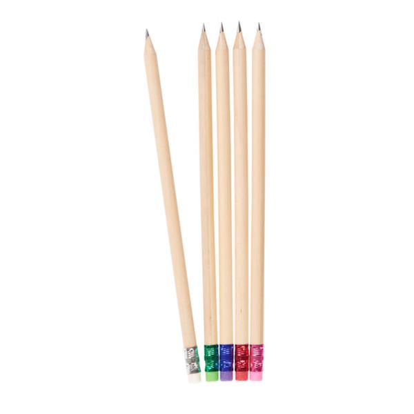 Minea Bleistift  mit Radierer 5 Stück