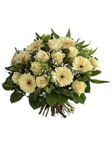 Blumenstrauß mit Rosen, Germini, Ø 38–42 cm