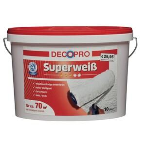 DecoPro Superweiß 10 Liter matt hochdeckend