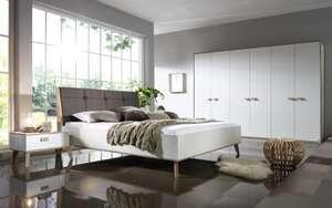 Steffen - Schlafzimmer Jütland in weiß matt/Jackson Hickory-Optik