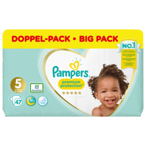 Pampers Premium Protection Windeln Gr.5 Junior 11-16kg Jumbopack 47 Stück