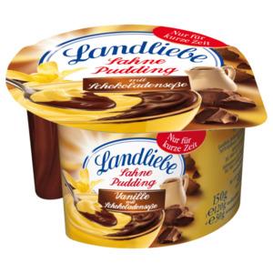 Landliebe Sahnepudding Vanille mit Schokoladensoße 150g