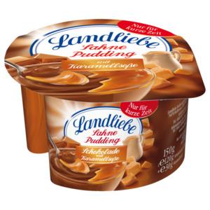 Landliebe Sahnepudding Schokolade mit Karamellsoße 150g