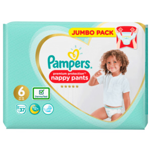 Pampers Premium Protection Pants Gr.6 15+kg, 37 Stück