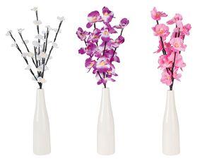 MELINERA® Vase, mit Frühlingszweig und LED-Beleuchtung, Batteriebetrieb, aus Keramik