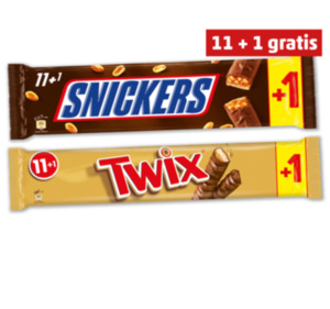 MARS Twix oder Snickers