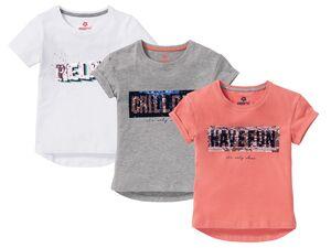 PEPPERTS® T-Shirt Mädchen, mit Pailetten, hoher Baumwollanteil, mit Elasthan