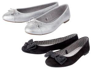 ESMARA® Ballerinas Damen, mit Zierschleife, Textilfutter, Decksohle mit Memory-Foam
