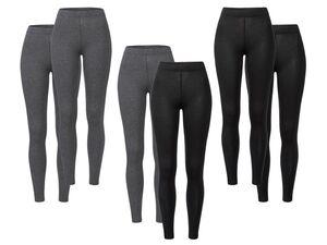 ESMARA®  Leggings Damen, 2 Stück, mit elastischem Bund, mit Baumwolle und Elasthan