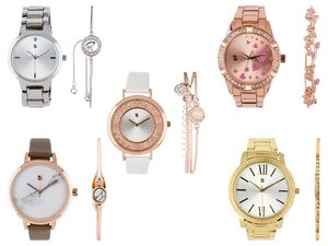 AURIOL®  Armbanduhr Set Damen, mit Armband, inklusive Batterien, wasserdicht