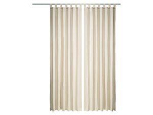 MERADISO® Gardine mit Schlaufe und Raffhalter 140 x 265 cm
