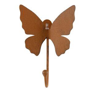 Garderobenhaken Schmetterling Rostbraun