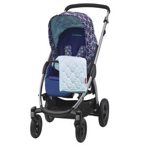 Stella Kinderwagen Blau, Weiß