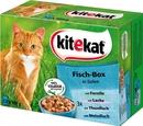 Bild 2 von Kitekat Fisch-Box in Gelee Katzenfutter nass Multipack 12x 100 g