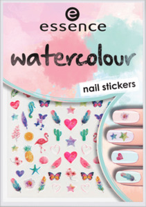 essence cosmetics Nagelsticker watercolour nail stickers 07