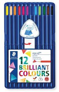 12 Dreieckige Farbstifte ergosoft im Kunststoffetui