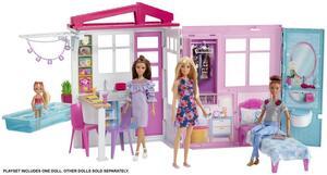 Barbie Ferienhaus Puppe und Möbel