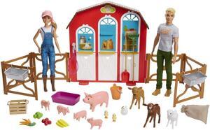 Barbie Bauernhof Spielset mit Puppe