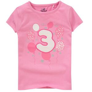 Mädchen T-Shirt mit Geburtstagszahl
