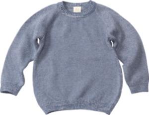 ALANA Kinder Pullover, Gr. 98, in Bio-Baumwolle, blau
