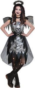 Kostüm - Schwarzer Engel - für Erwachsene - 3-teilig - verschiedene Größen